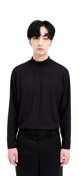 out of stock HALF  TURTLE NECK _ BLACK