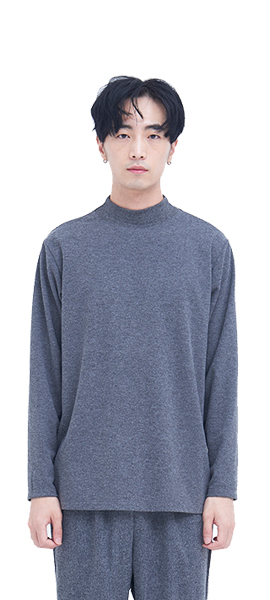 out of stock  HALF  TURTLE NECK _ GREY