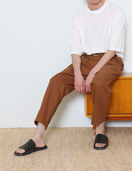 JUST B BELTED BANDING PANTS (EARTH BROWN)
