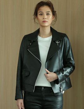 out of stock  women lambskin standard rider jk